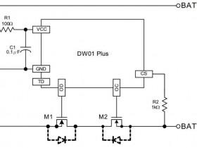带电量计的锂电池充电保护电路